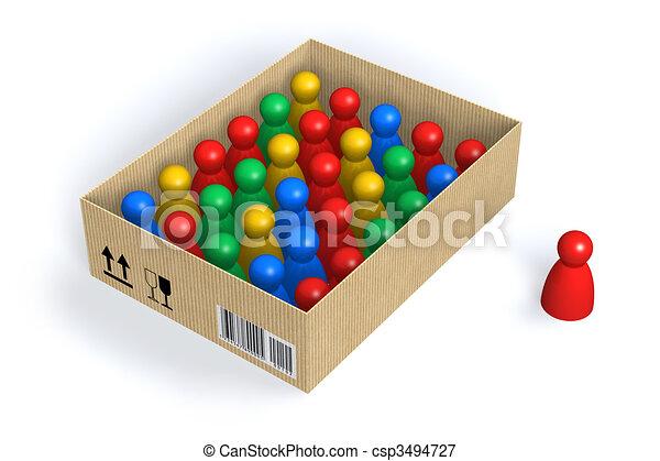 Figures in box - csp3494727