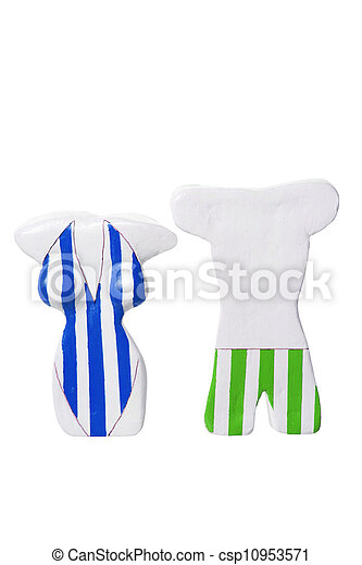 Figures with Swimming Costume - csp10953571