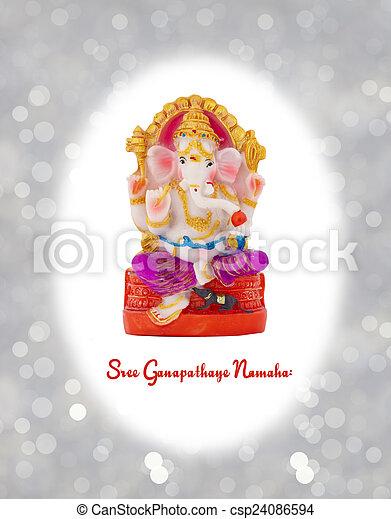 Figurine of Hindu god Ganesha. - csp24086594