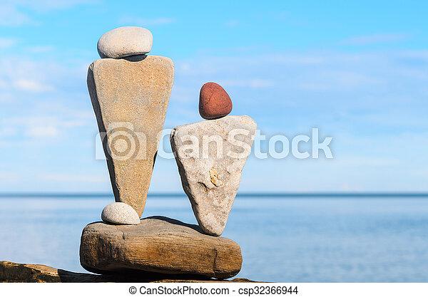 figurines, pierre, symbolique - csp32366944