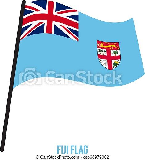 Fiji Flag Waving Vector Illustration On White Background Fiji National Flag