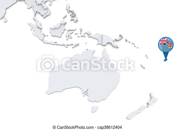 Fiji on a map of oceania highlighted fiji on map of oceania fiji on a map of oceania csp38612404 gumiabroncs Gallery