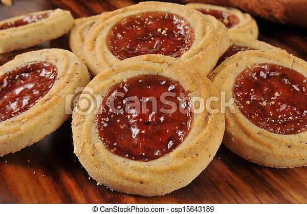 fijnproever, koekjes, fruit, gevulde - csp15643189