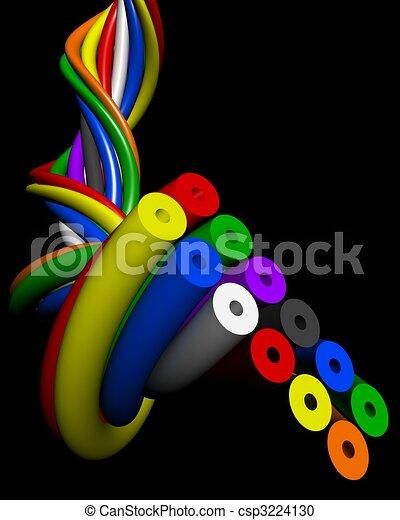 fil, électronique, résumé, connexion, concept, coloré - csp3224130
