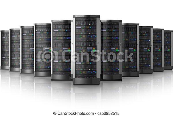 Una fila de servidores en el centro de datos - csp8952515