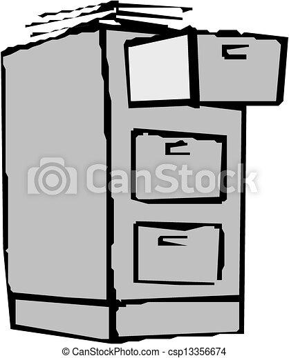 File cabinet  - csp13356674