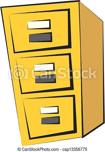 File cabinet  - csp13356775