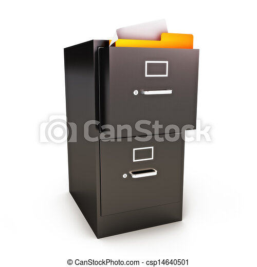 File Cabinet with files - csp14640501