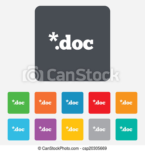 File document icon. Download doc button. - csp20305669