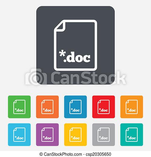 File document icon. Download doc button. - csp20305650