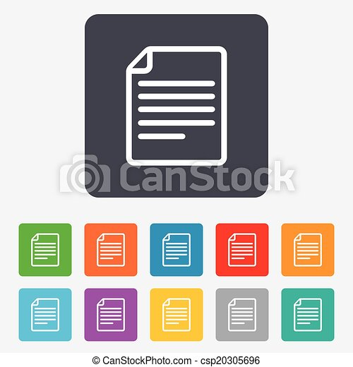 File document icon. Download doc button. - csp20305696