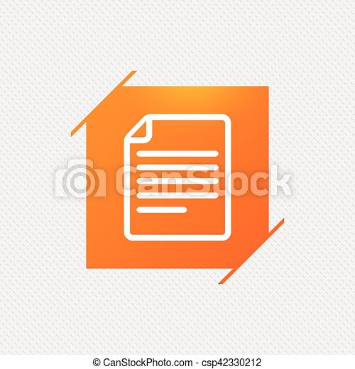 File document icon. Download doc button. - csp42330212