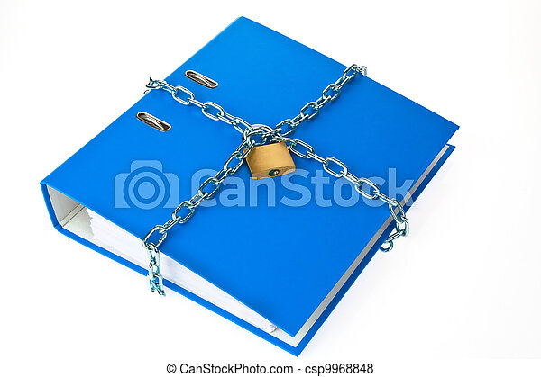 file folder closed with chain - csp9968848