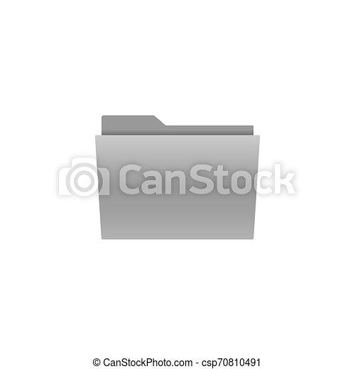 File, folder icon. Vector illustration, flat design. - csp70810491