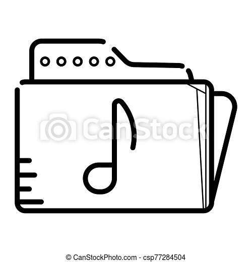 file folder icon with a music note - csp77284504