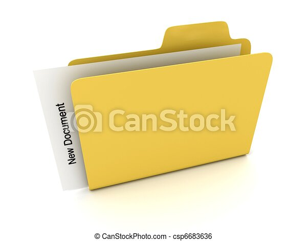 File folder with document - csp6683636