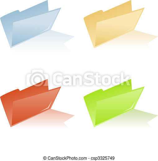 file folder with place for label - csp3325749