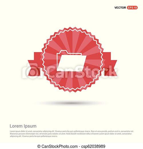 File Icon - Red Ribbon banner - csp62038989