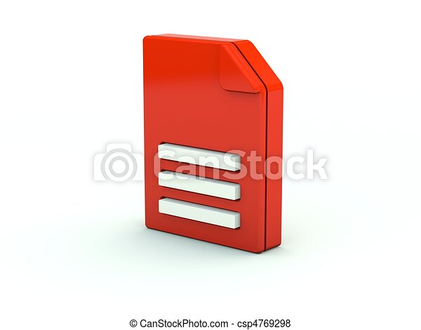 File icon. Red series - csp4769298