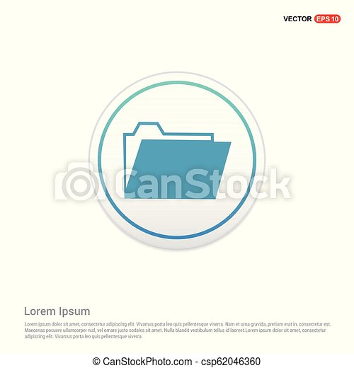 File Icon - white circle button - csp62046360