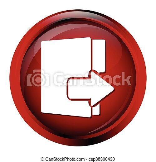 File, information button icon - csp38300430