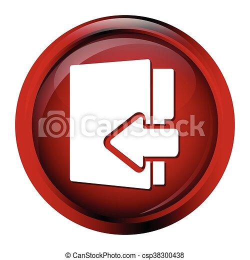 File, information button icon - csp38300438