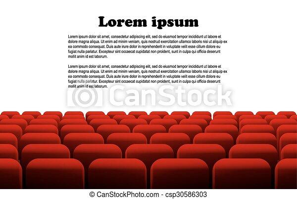 file, teatro, cinema, posti, o, rosso - csp30586303