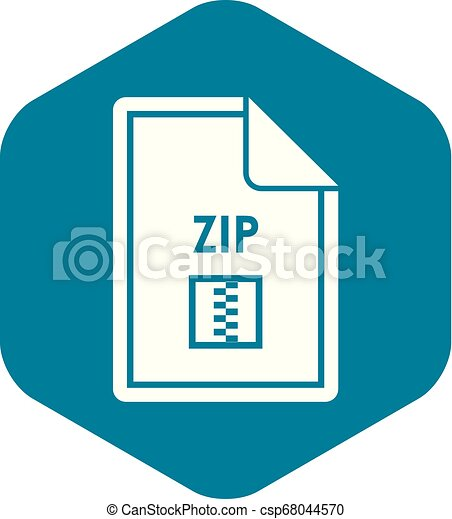 File ZIP icon, simple style - csp68044570