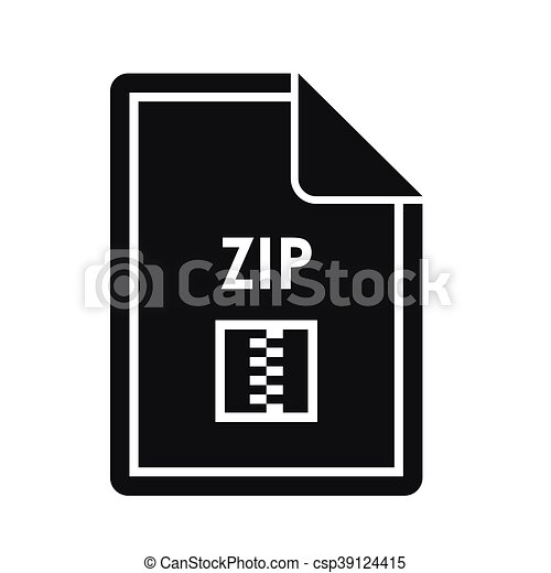 File ZIP icon, simple style - csp39124415