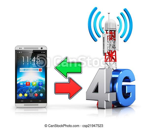 fili, 4g, concetto, comunicazione - csp21947523