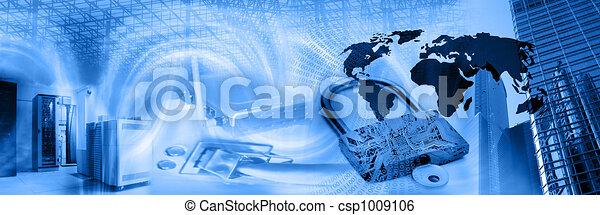 fili, fotomontaggio, sicurezza - csp1009106