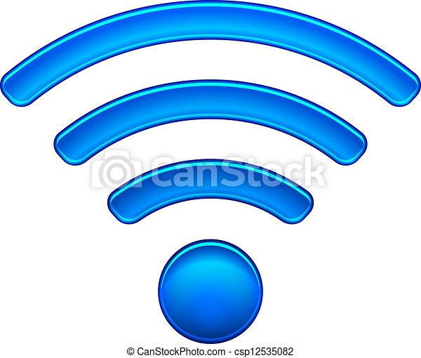 fili, simbolo, wifi, rete, icona - csp12535082