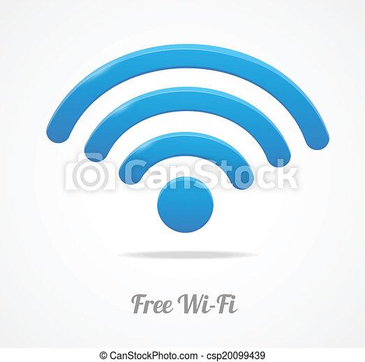 fili, wifi, rete, simbolo., icona - csp20099439