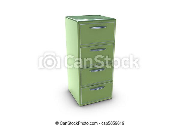 Filing cabinet - csp5859619