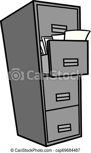 Filing Cabinet Illustration A Cartoon Illustration Of A Filing Cabinet