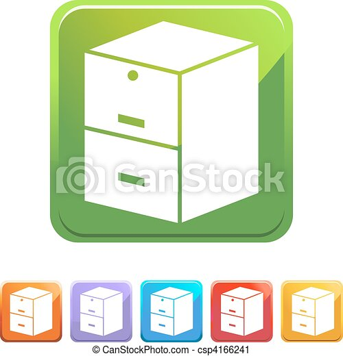 Filing Cabinet - csp4166241