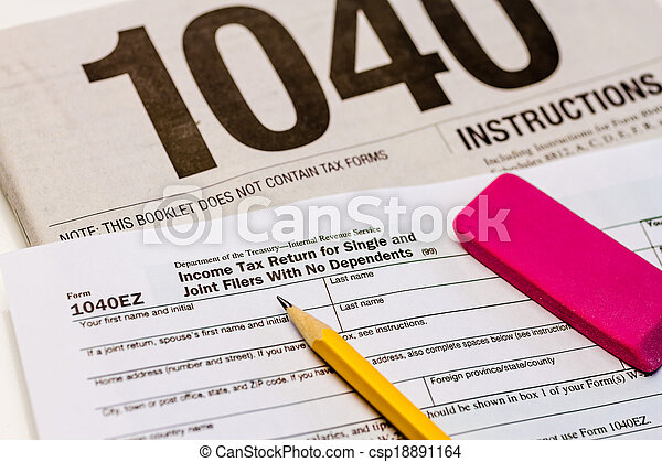 Filing Taxes And Tax Forms Tax Form 1040ez And Instructions With