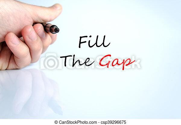 Fill the gap text concept - csp39296675