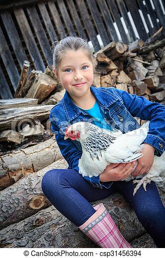 fille, agriculteurs - csp31456394