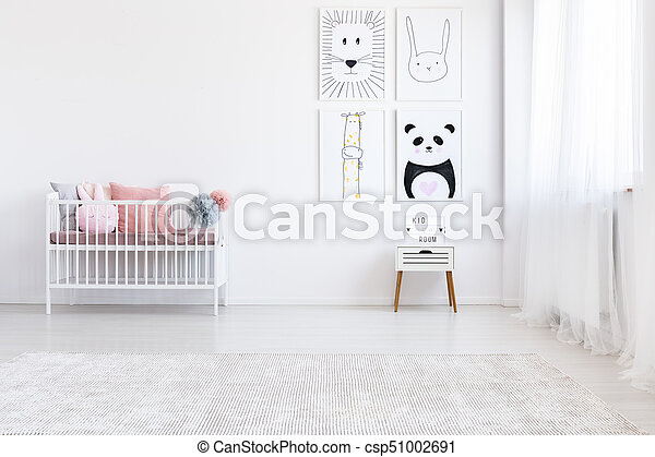 Fille Dessin Panda Chambre A Coucher Rose Fille Oreillers Mur Lit Cabinet Panda Au Dessus Chambre A Coucher Canstock