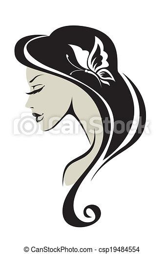 Fille Noire Silhouette Blanc