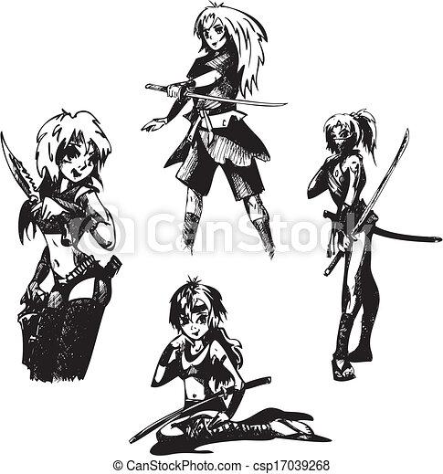 Filles épées Ados