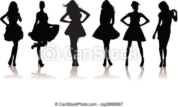 filles, modèle, beau - csp5868997