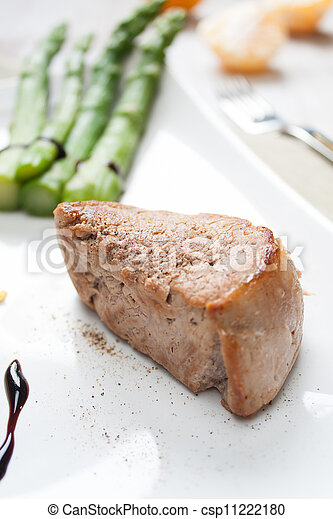 Fillet of pork with asparagus - csp11222180