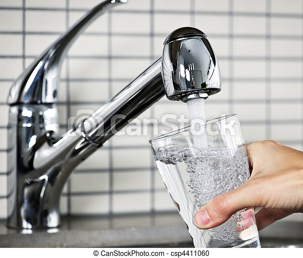 Filling glass of tap water - csp4411060