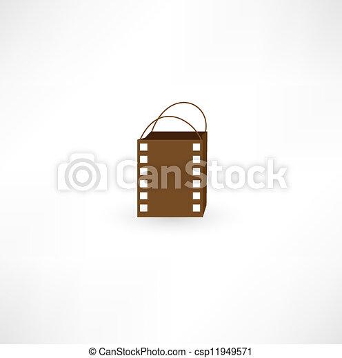 Film bag icon. - csp11949571
