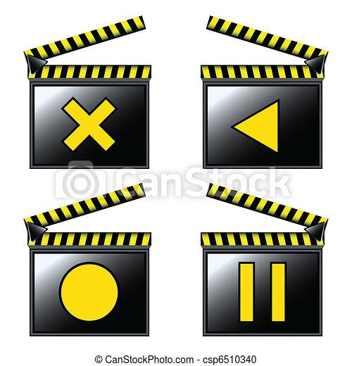 film, bardeau, cinéma, icônes - csp6510340