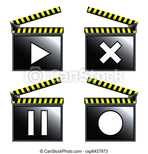 film, bardeau, cinéma, icônes - csp6437973