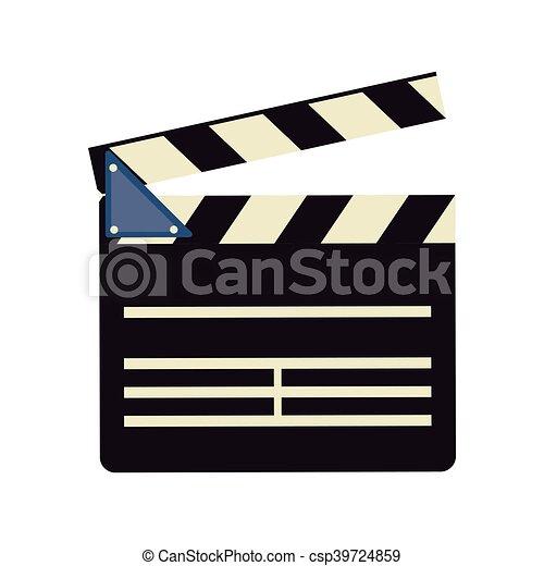 film, bardeau, conception, cinéma - csp39724859