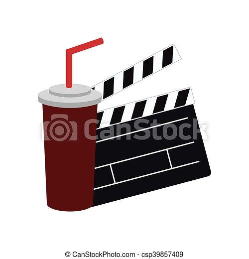 film, bardeau, conception, cinéma - csp39857409